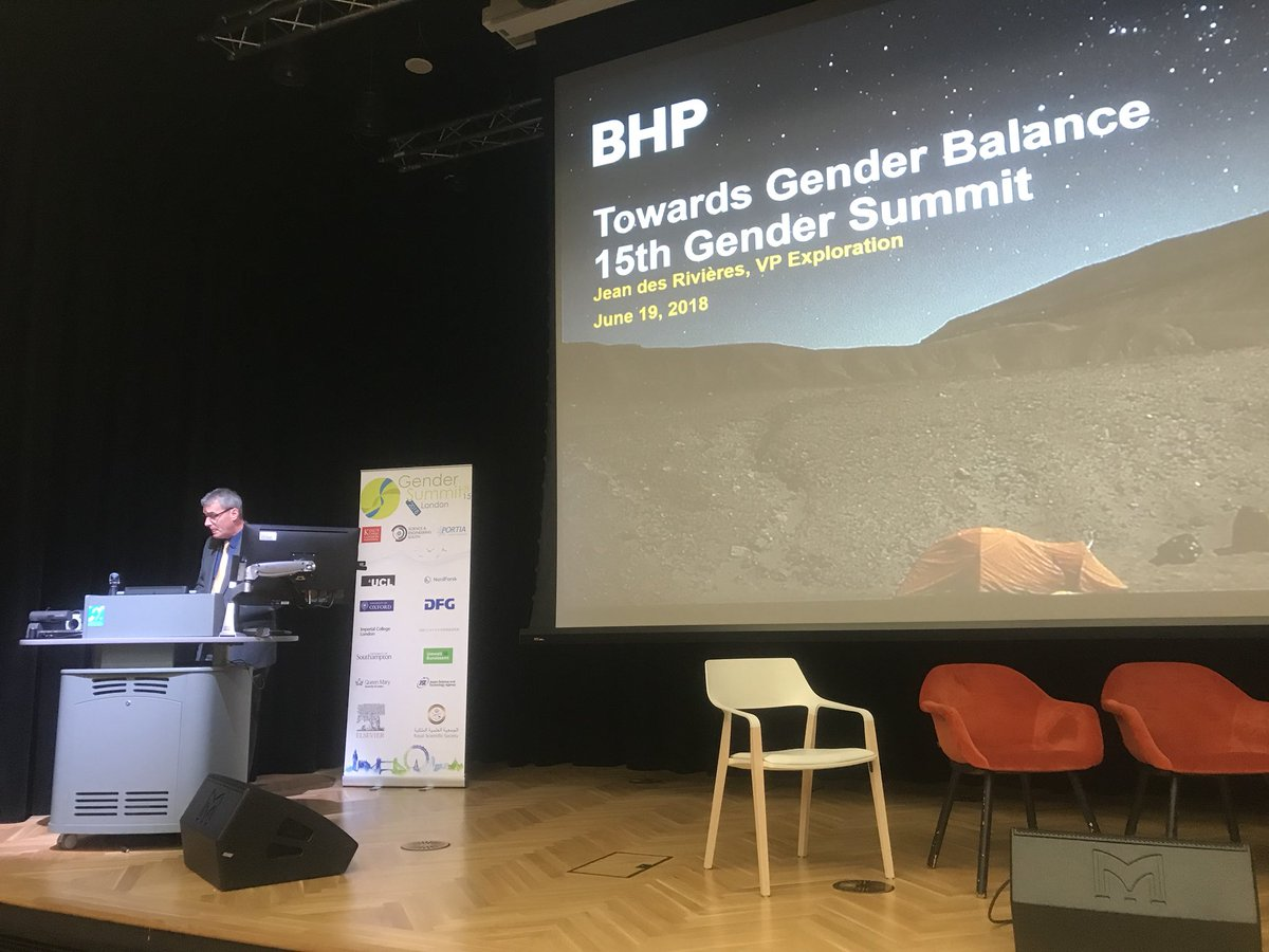 test Twitter Media - We're so pleased to include some wonderful speakers from industry today at the @gendersummit Jean E. Des Rivières (VP, Exploration) reveals the #BHP commitment to achieve gender parity by 2025 #GenderSummit15 https://t.co/cKiTBmGBKM