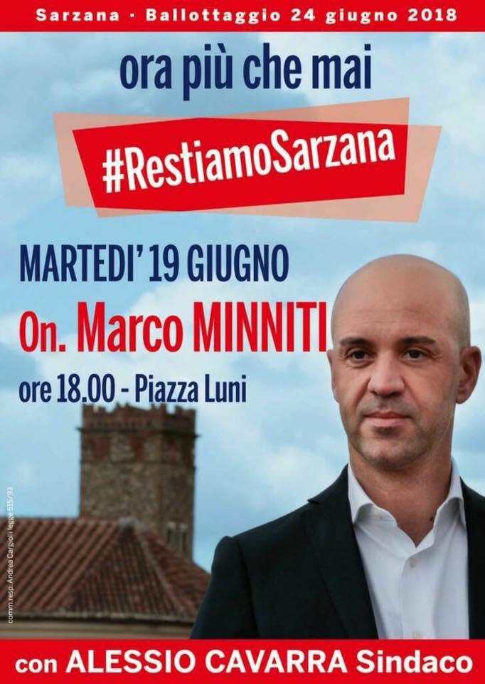 Questa sera Marco Minniti a #Sarzana a sostegno di Alessio Cavarra #sindaco. #restiamoSarzana  - Ukustom