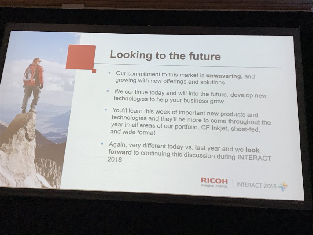 What's your one word to describe Ricoh? John Fulena says COMMITMENT! https://t.co/S6SKyI0RgX