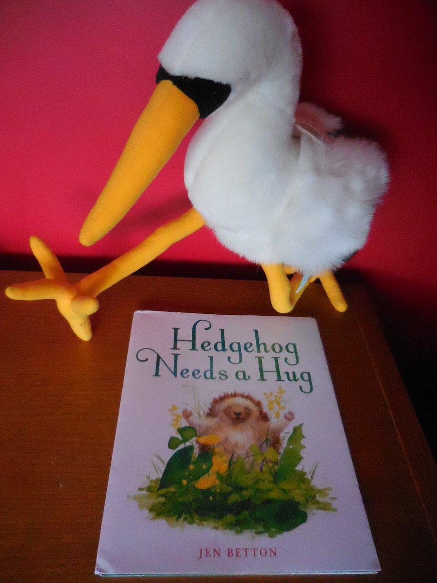 The Book Stork wishes @JenBetton a Happy #bookbirthday! #HedgehogNeedsaHug  https:// gph.is/1MAlUoW  &nbsp;    #giveawayalert #epic18 @KidLitArtists @penguinkids #100daysofHedgehogs<br>http://pic.twitter.com/unMVbjgGOB