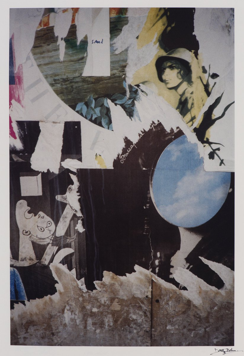 #BenUri is highlighting artist #DorothyBohm, and her photograph on paper, Torn Poster, South Bank, London, 1984, for Day 2 of #RefugeeWeek. Born 1924 to a Jewish family in East Prussia (Russia), she was sent to England 1939 to escape Nazism. © Courtesy of the Dorothy Bohm Archive