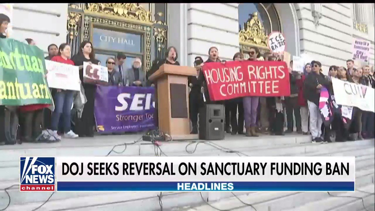 DOJ Seeks Reversal on Sanctuary Funding Ban https://t.co/OUnkPQBXOF https://t.co/umDZaDOIrd