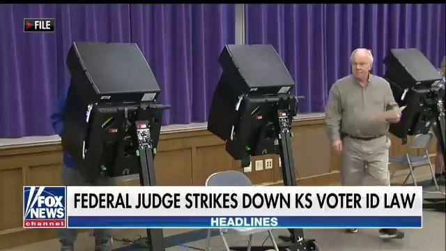 Federal Judge Strikes Down KS Voter ID Law https://t.co/umKuAKYHlm