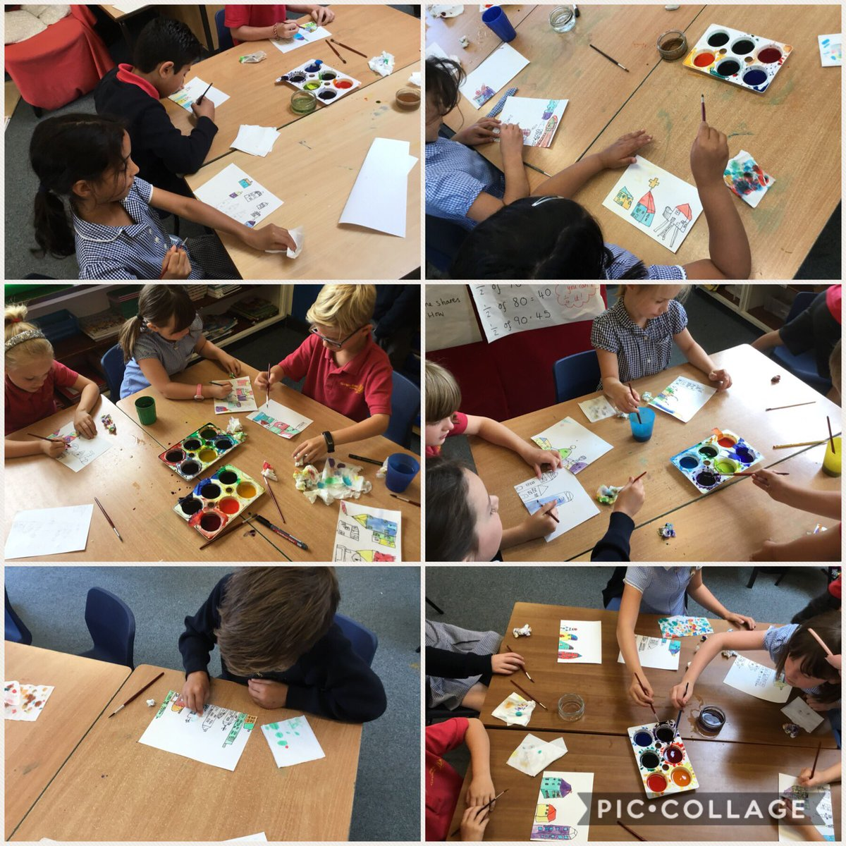 test Twitter Media - Now we are using brusho to paint the houses. We are using bright colours so they stand out on our backgrounds! #gorseyart #gorseyartsweek https://t.co/BlBFNuZ1Ch