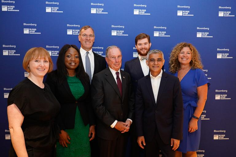 &quot;I genuinely believe small businesses are the lifeblood of our economy and the forefront of innovation.&quot; @MayorofLondon joins @MikeBloomberg, Richard Gnodde and #10KSBUK alumni at our Rethinking Productivity conference #MakeSmallBig <br>http://pic.twitter.com/oBOIsapESV