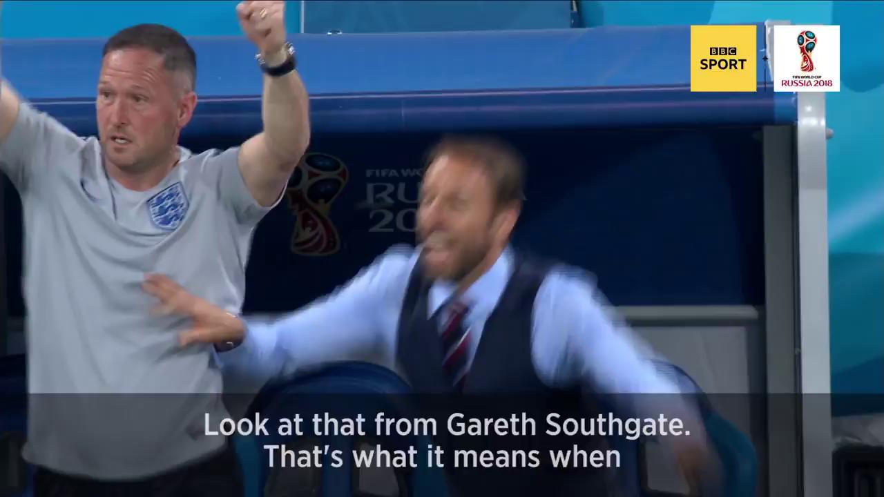 Scenes.   #ThreeLions #WorldCup #bbcworldcup https://t.co/8DRVuF7DCw