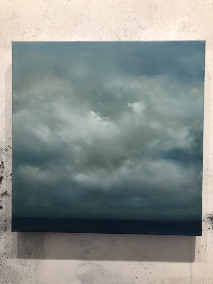Tightening up a smaller composition today #wip #oilpainting #guildfordarts #summerexhbition #englishchannel 40cm x 40cm #oiloncanvas #landscapepainting #abstract #clouds #cloudbusting<br>http://pic.twitter.com/EfSC8v93Ap