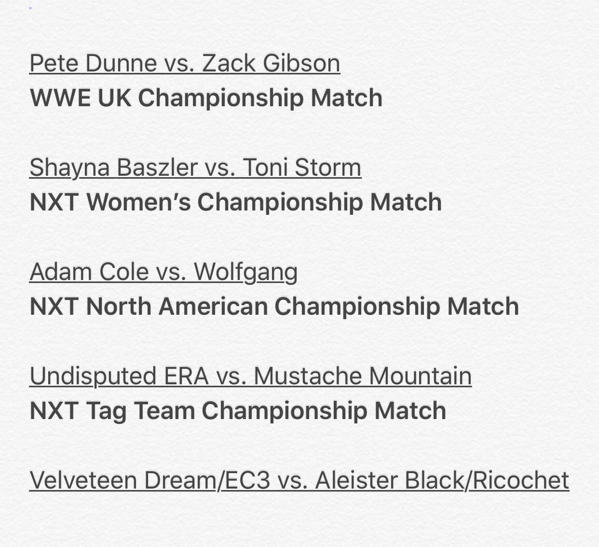 TONIGHT @RoyalAlbertHall, @WWENXT and stars from the @WWEUK division bring you an absolutely STACKED card. 4 championship matches and a huge tag team match featuring #NXTChampion @WWEAleister and @KingRicochet vs. @therealec3 and @VelveteenWWE. This is MUST SEE!! #WeAreNXT