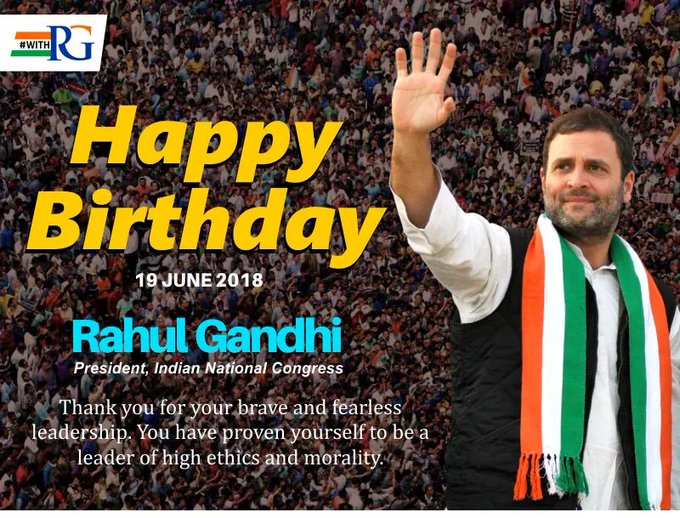 Happy Birthday Rahul Gandhi Ji  Best Of Luck......