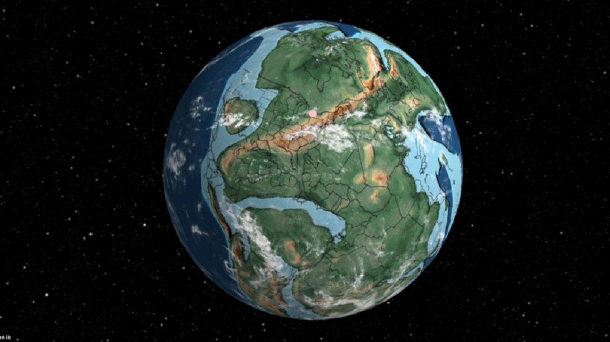 指定した住所が7億5000万年前どこにあったかを示してくれる3Dマップ。大陸ってこんなに分裂・移動してたんだ… #マップ #インタラクティブ #サイエンス #地球 https://t.co/LlpJmAPHHt
