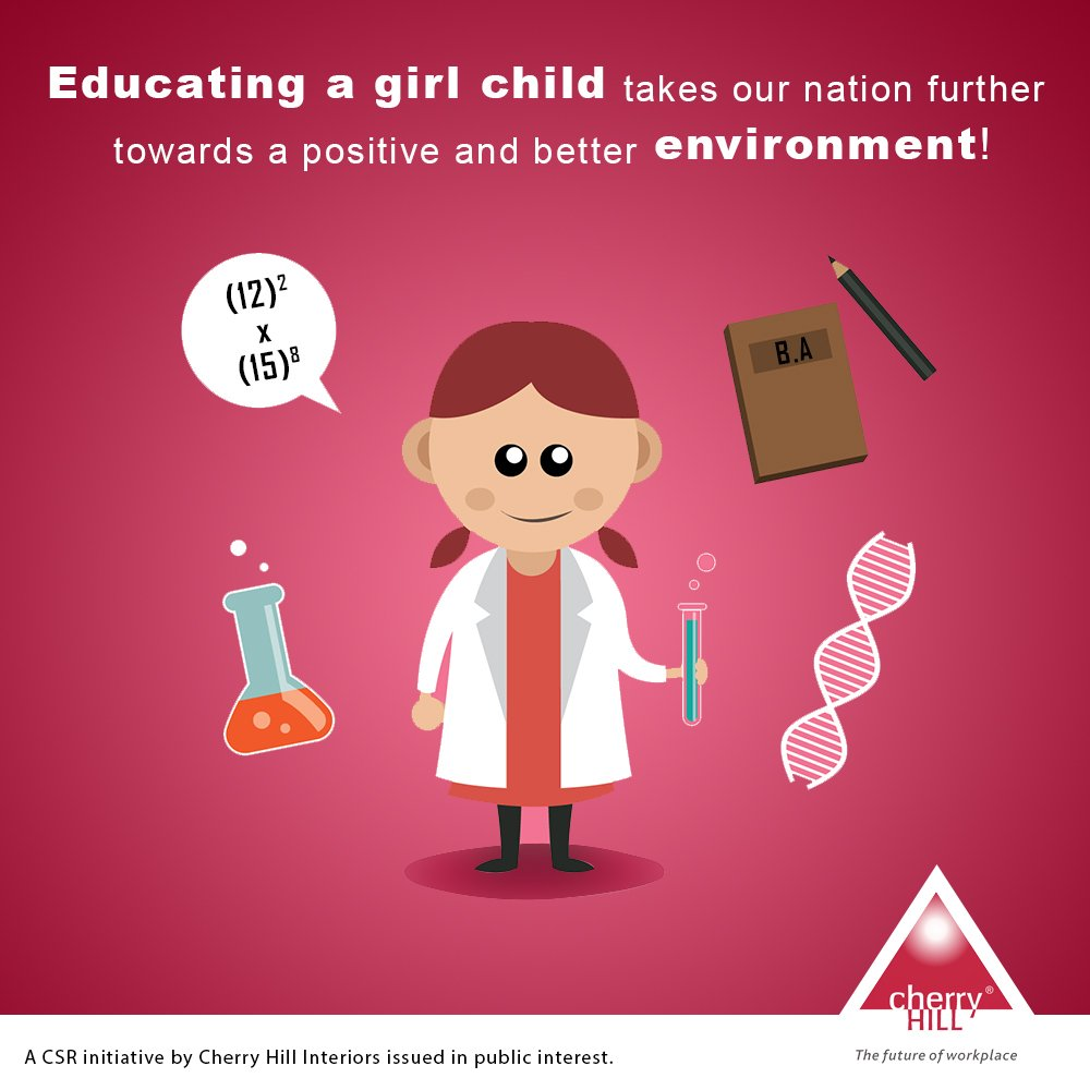 ... We Need To Educate Each Child Equally, Without Discriminating On The  Basis Of Their Gender U2013 A Cherry Hill CSR Initiative Issued In Public  Interest.