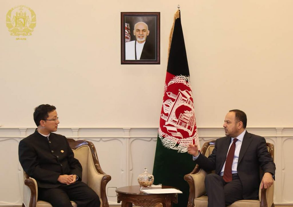 In today's meeting with the #Amb of China to #Afghanistan H.E. Liu Jinsong, we discussed about solar projects in ten less development provinces around the country.