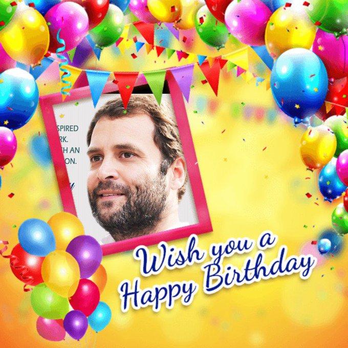 Happy birthday Day to Rahul Gandhi Garu