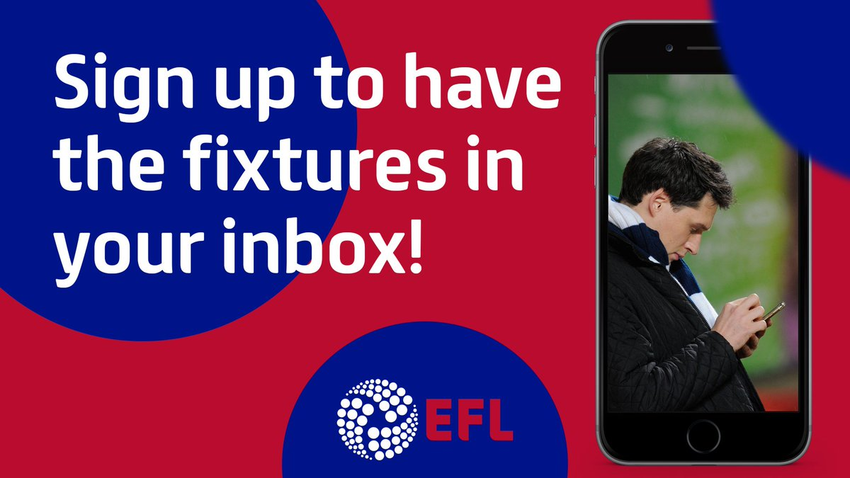 Get your #EFL Club's fixtures direct to your inbox on #FixtureReleaseDay! ⚽️ Step this way >> po.st/fxt1819