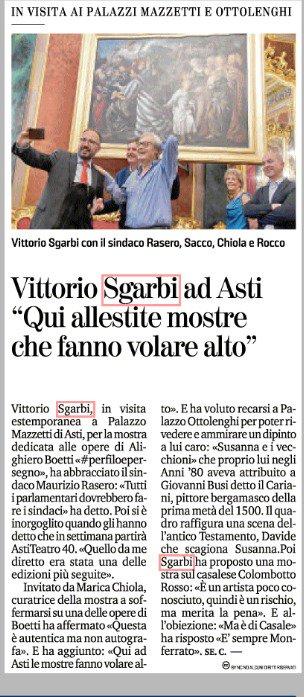 """@VittorioSgarbi #Sgarbi ad #Asti """"Qui allestire #mostre che fanno #volare alto""""  - Ukustom"""