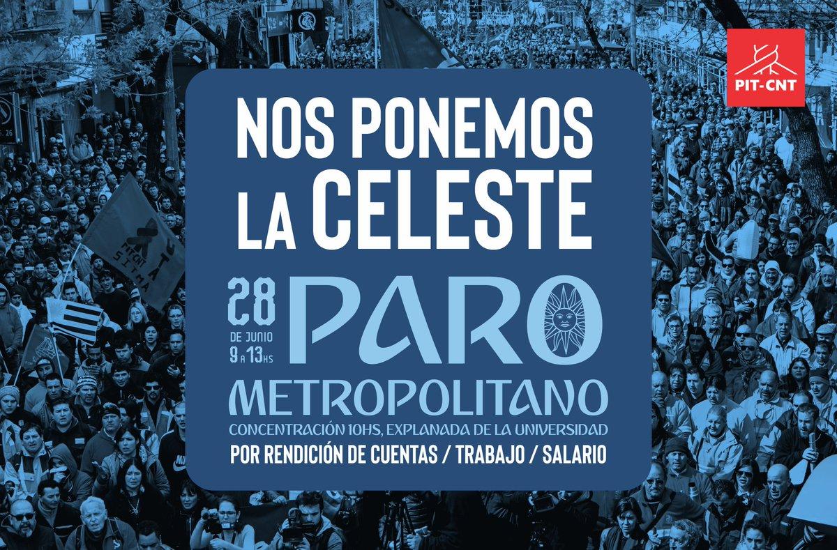 Pit Cnt On Twitter Paro Metropolitano Jueves  De Junio De Hs Concentracion Hs Explanada De La Universidad Por Rendicion De Cuentas