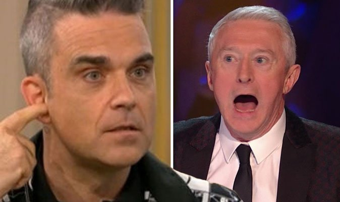 Has Robbie Williams replaced Louis Walsh on #XFactor? Foto