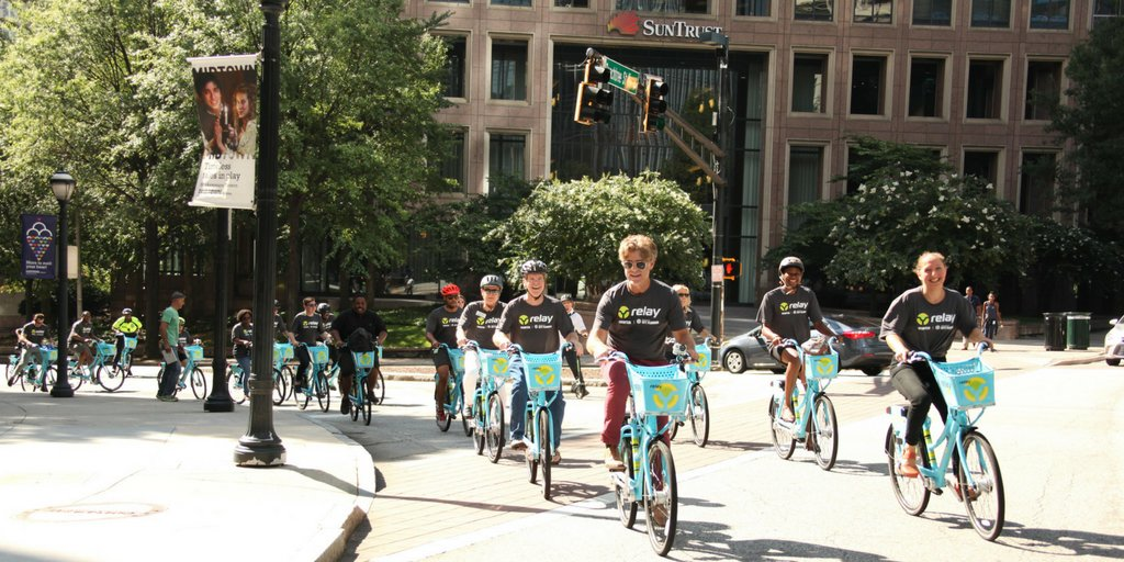 #TransitTuesday: Biking around #MidtownATL is always better with a group + riding @RelayBikeShare. Find our hub at 14th + Juniper by SCAD Show.<br>http://pic.twitter.com/vPg9X7kjDG