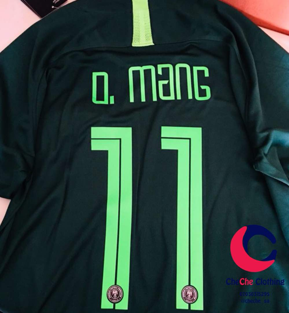 Ladies your MCM is ready to bench that 😒 Midfielder Joel Obi that cant give a good pass and push attack. Thanks @cheche_sa cant wait to rock this Jersey. #WorldCup #NGAISL