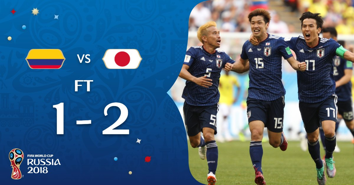 A big win for #JPN!  #COLJPN