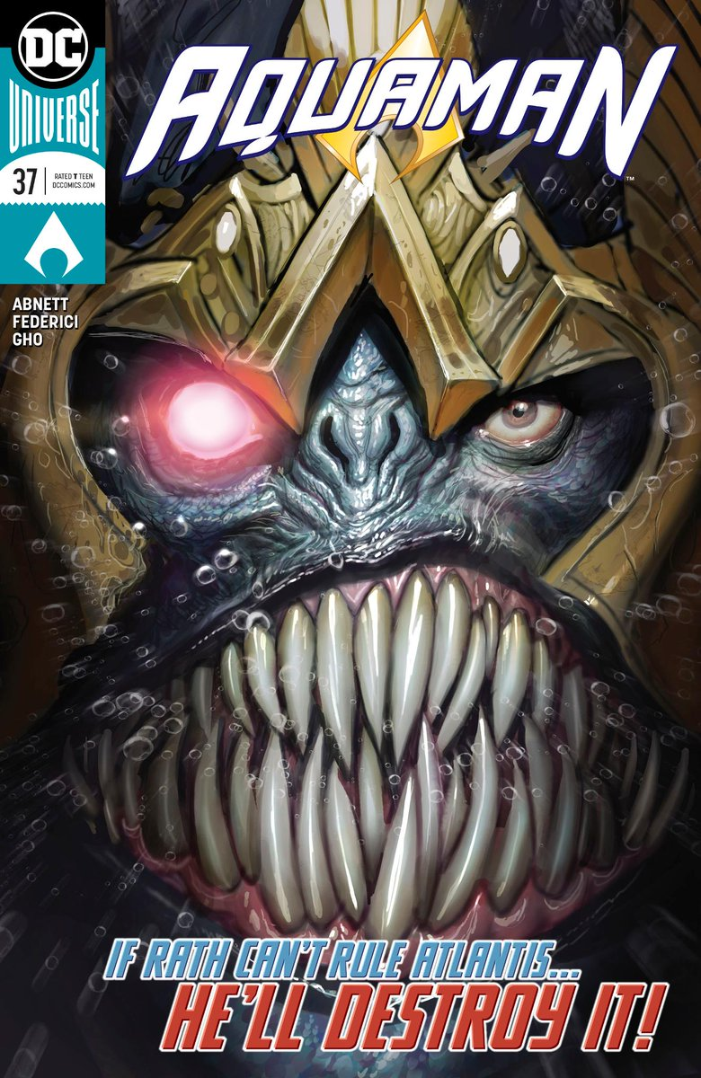 With his monstrous new form, King Rath may be too much for Aquaman and Murk to handle in @multiversitycoms exclusive preview of AQUAMAN #37: bit.ly/2MCzlab