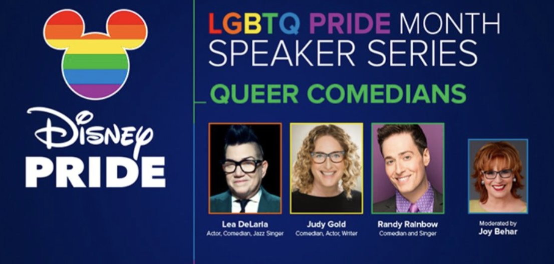 TOMORROW: Comedians @realleadelaria, @JewdyGold and @RandyRainbow sit down with our @JoyVBehar as a part of @ABC News' #PrideMonth speaker series — join us in our studio!  Get FREE tickets: https://t.co/DowoMwZQkl