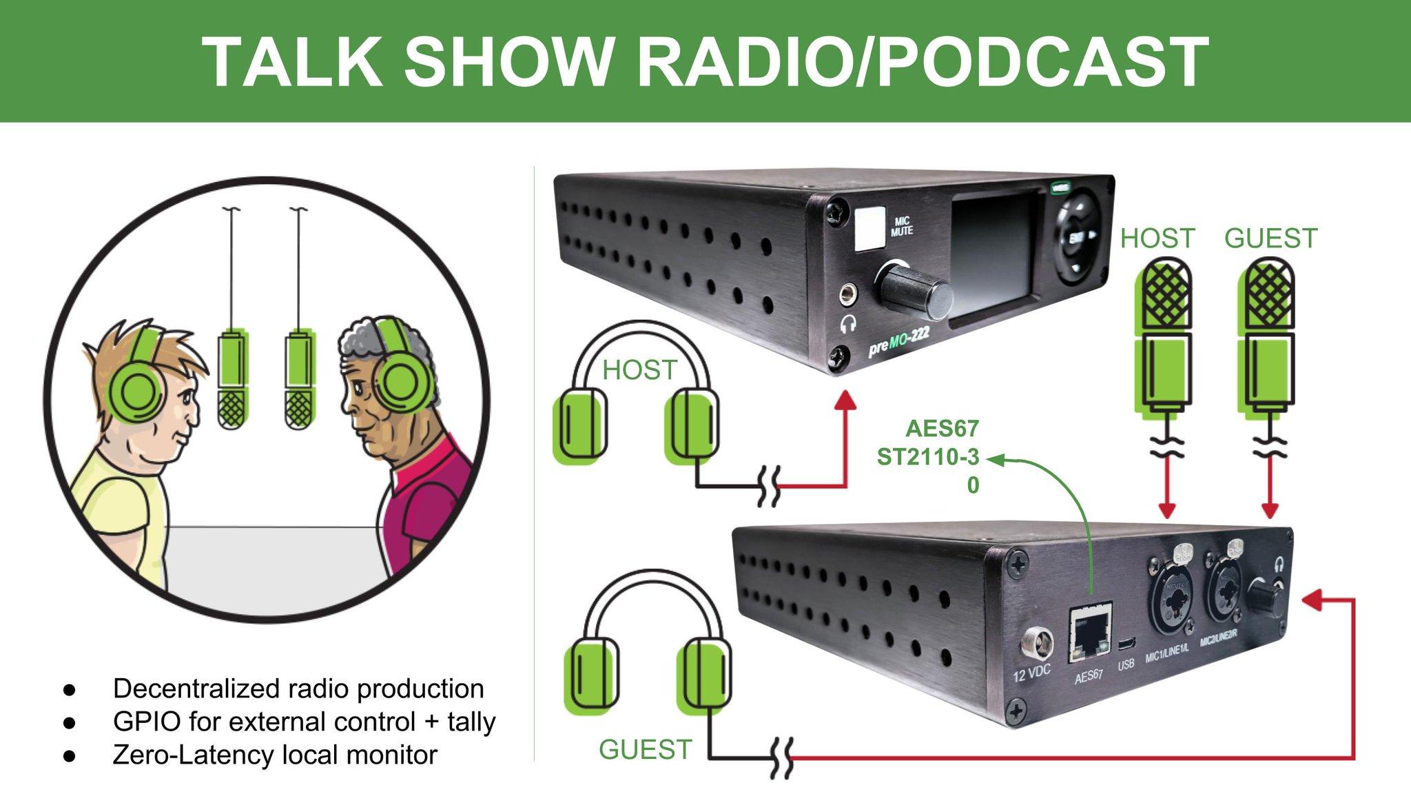 Premo-222 talk show radio setup