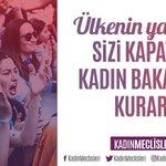 #KadınBakanlığıŞart Twitter Photo