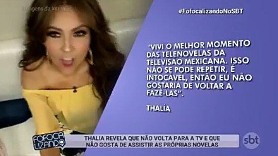 #FofocalizandoNoSBT é uma pena que a Thalia não quer voltar fazer telenovelas, ela é muito talentosa. com certeza se ela voltasse para as telenovelas, mesmo que ela não acredite seria um 😢😍👊 Foto