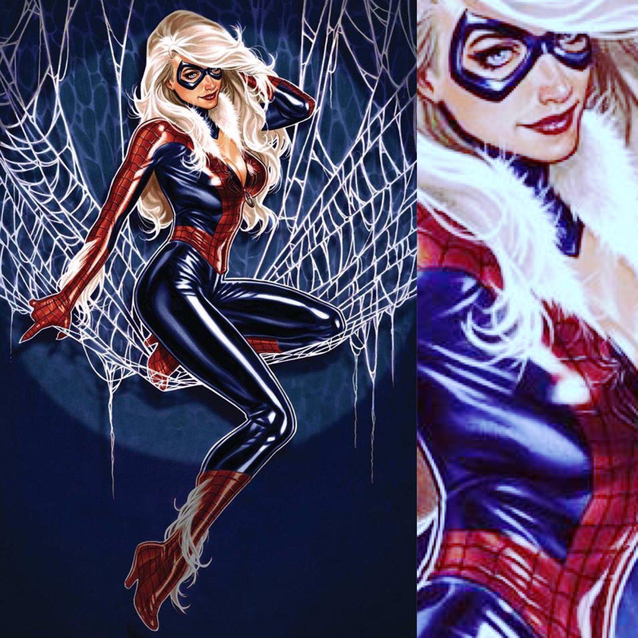 spiderman black cat costume - HD2048×2048
