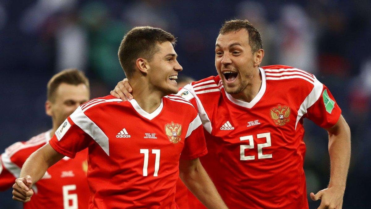 هدف روسيا الثاني في مرمى منتخب مصر