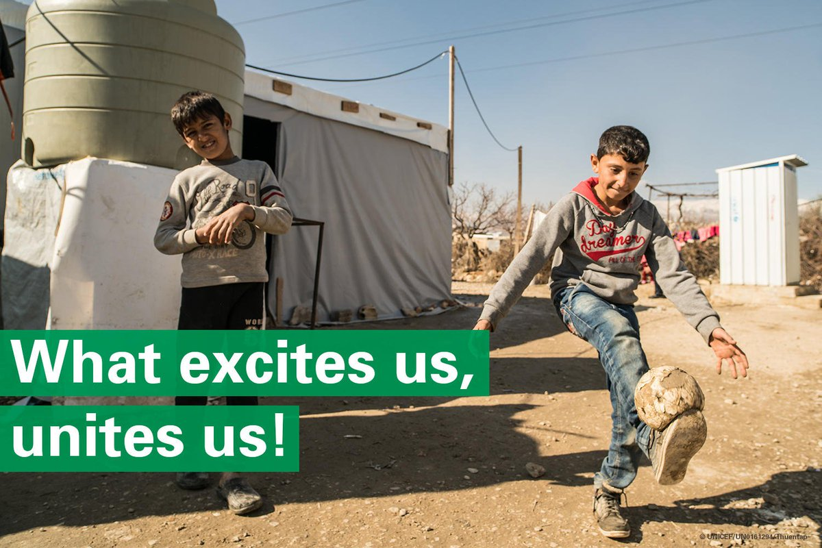 For #WorldRefugeeDay well be LIVE on Facebook from Za'atari refugee camp in Jordan. Well be with children and young people sharing their love for football & hopes for the future. Tune in on 20 June at 10:30am EST. Got a question? Submit it below. #AChildIsAChild #WorldCup