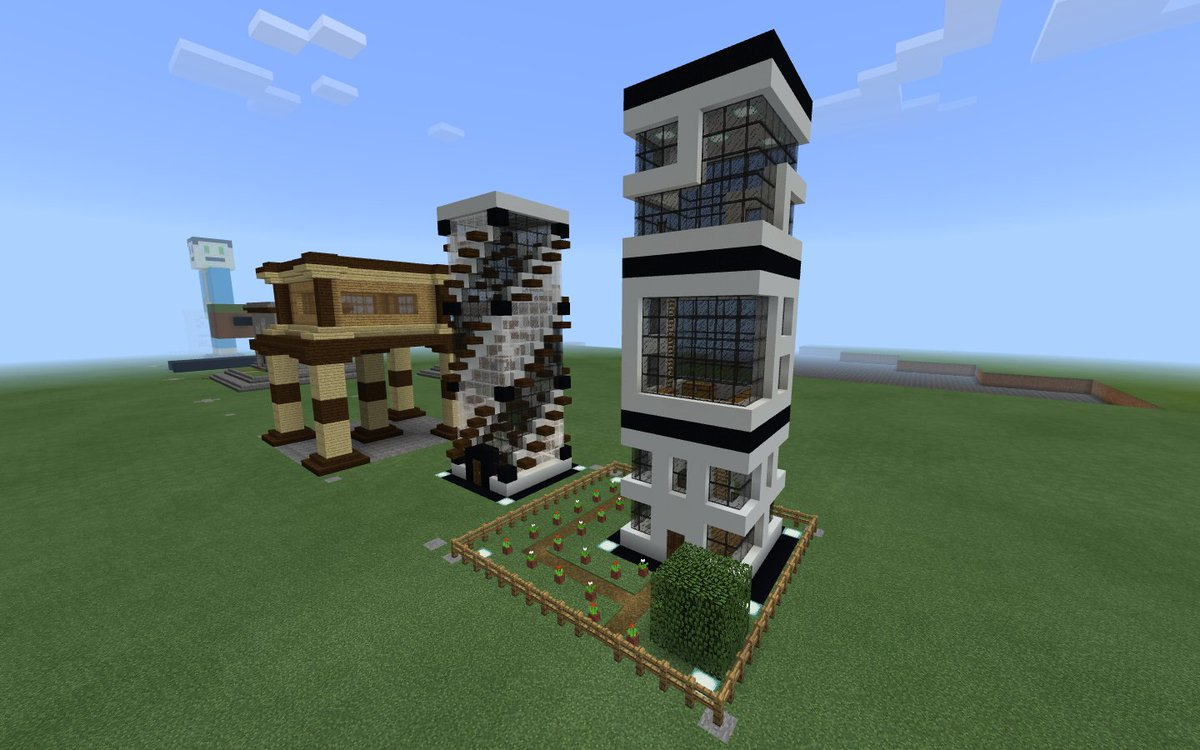 . CPU M Rossi ar Twitter   Modern Tower Houses  Minecraft inspired by