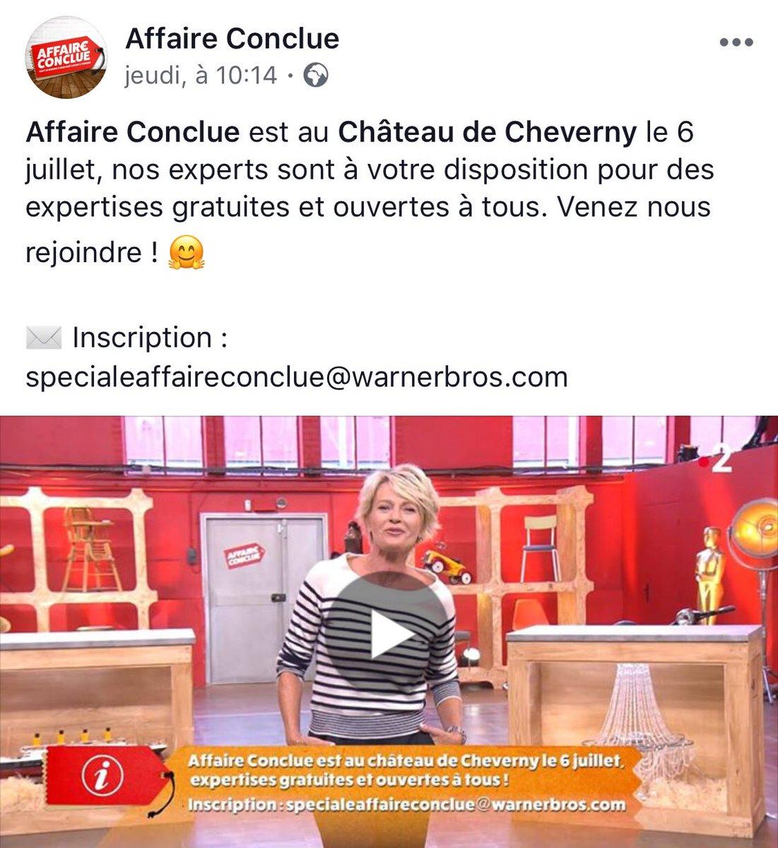 Rendez-vous le 6 juillet au #Château de #Cheverny avec #AffaireConclue et @sodavant !  On vous en dit plus dès vendredi !  https:// www.facebook.com/AffaireConclue/videos/387836378391986/  - FestivalFocus