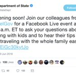 """Image for the Tweet beginning: The State Department's """"Family Travel"""""""