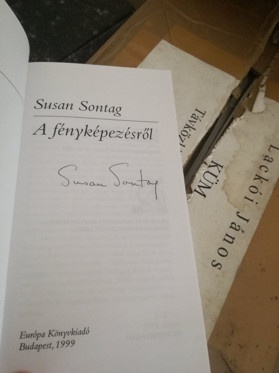 Found this during a massive clearout of my stuff - my very own dedicated copy of Susan Sontags On Photography. We had a chat about Hungarian literature and she was so open & friendly. #lovebooks