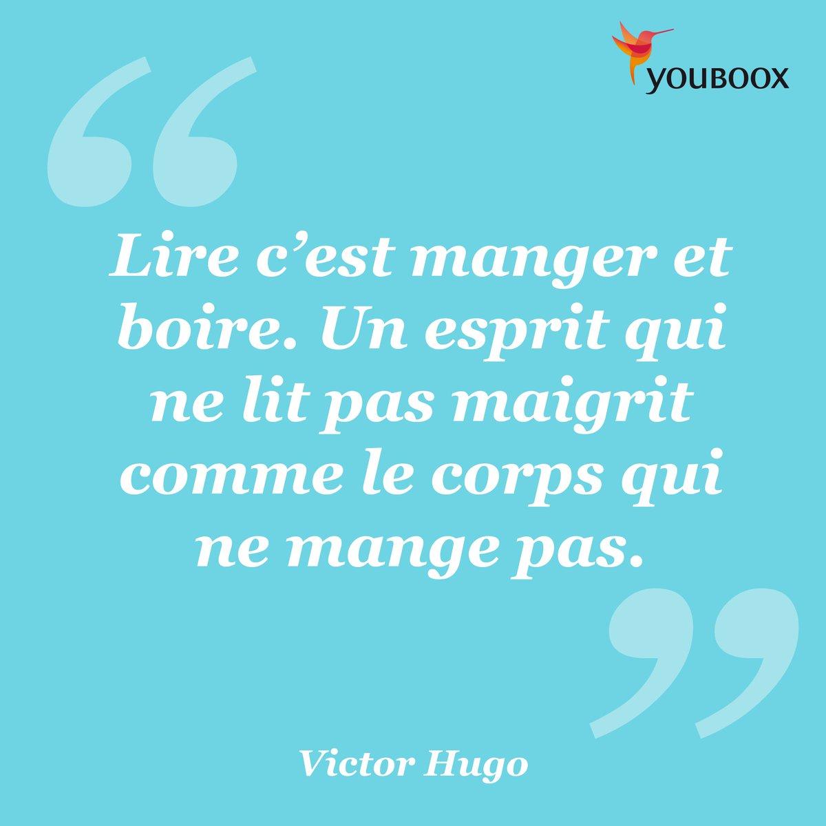 Youboox On Twitter Mangez Citation Victorhugo Livre