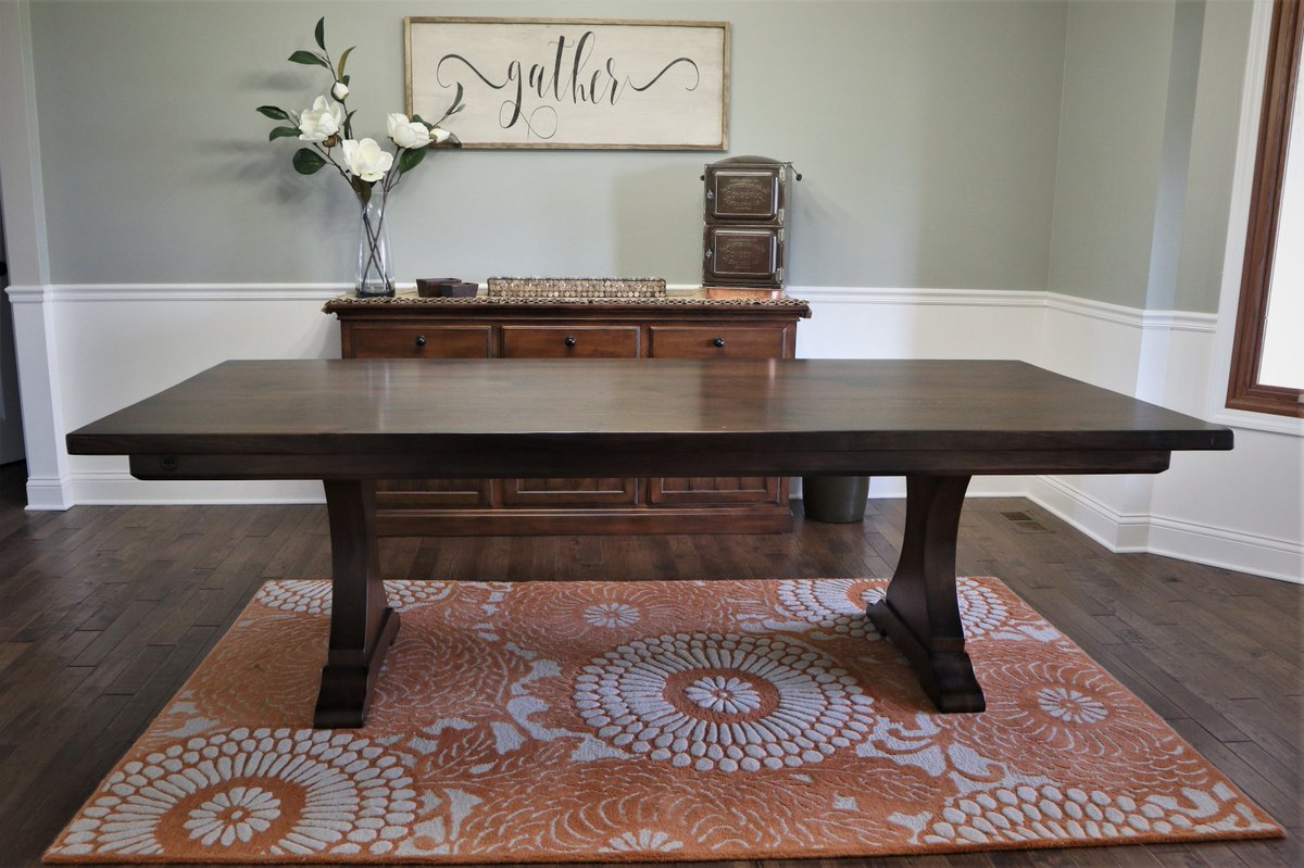 rustic elements furniture. We Delivered This All Solid Hickory Table With A Thick, Groove-less Top And  Our Craftsman Pedestal-clad Base Recently. Https://bit.ly/2gKfWVZ Rustic Elements Furniture M
