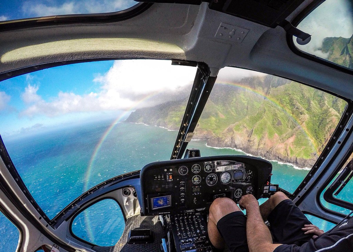 Photo of the Day: Chase a rainbow over the lush landscape of Kauai for #TravelTuesday with Daniele Ardissone + #HERO5 Black. 🌈🚁 Share your #GoProTravel at gopro.com/awards. 🗺