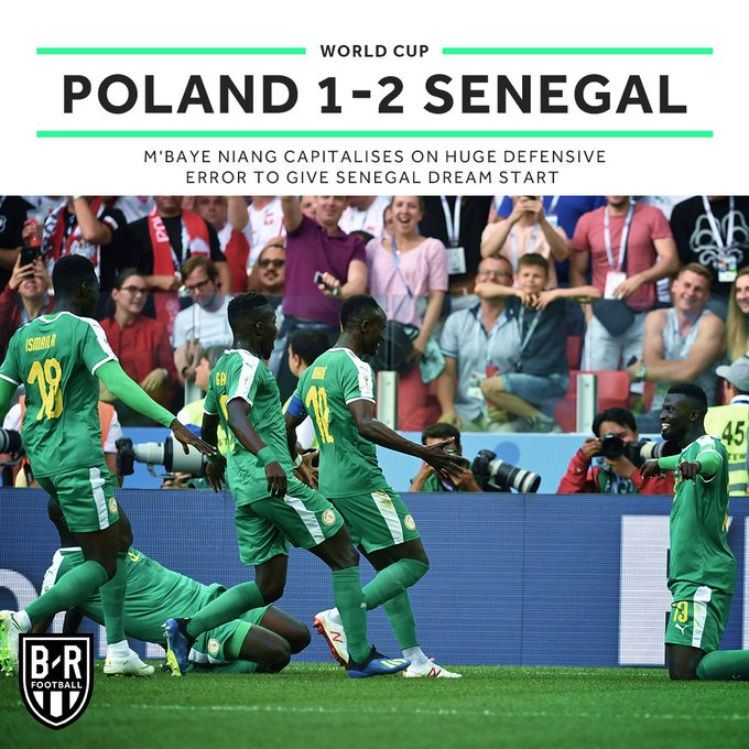 Senegal get Africa up and running at the #WorldCup! 🇸🇳🙌 Photo