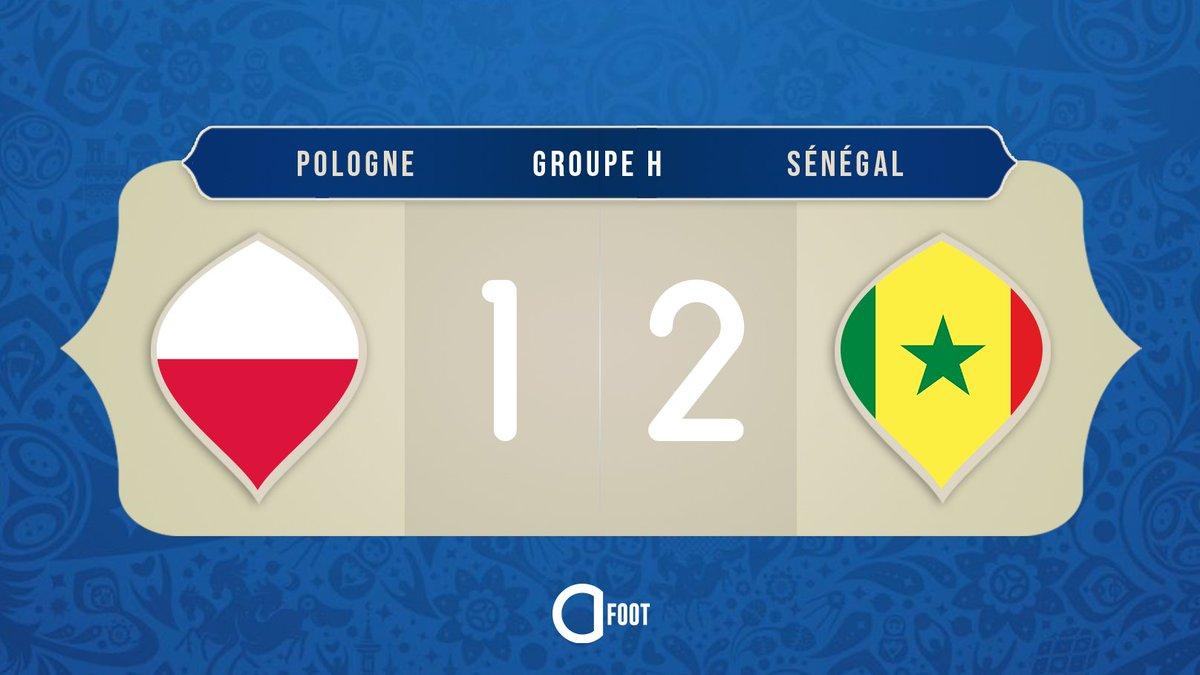 ⏱ TERMINÉ !  POLOGNE 🇵🇱  1-2  🇸🇳 SÉNÉGAL  Le Sénégal est la première équipe africaine à s'imposer dans cette Coupe du monde !