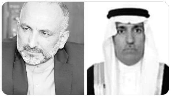 NSA MH Atmar spoke with the National Security Advisor of Saudi Arabia H.E. Mohammad bin Salih Alghfaili over the phone&discussed the implementation of decisions of the Quadrilateral Mechanism for Peace&Cooperation among Afghanistan, Saudi Arabia, the US & United Arab Emirates.(1)