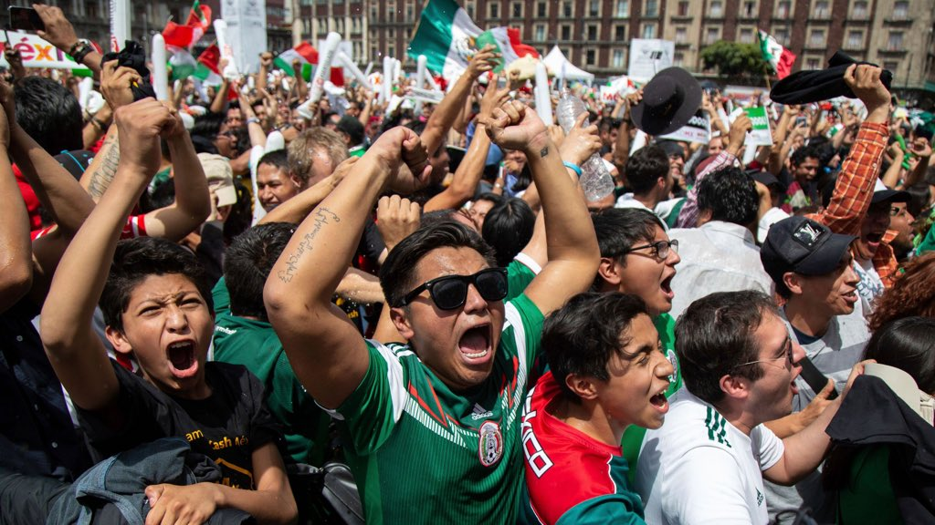 Celebration of Mexicos winning goal against the might of Germany in the streets of Mexico City were so wild and furious that a tremor measuring 3.4 on the richter sale was recorded... Celebration Day for real !!!