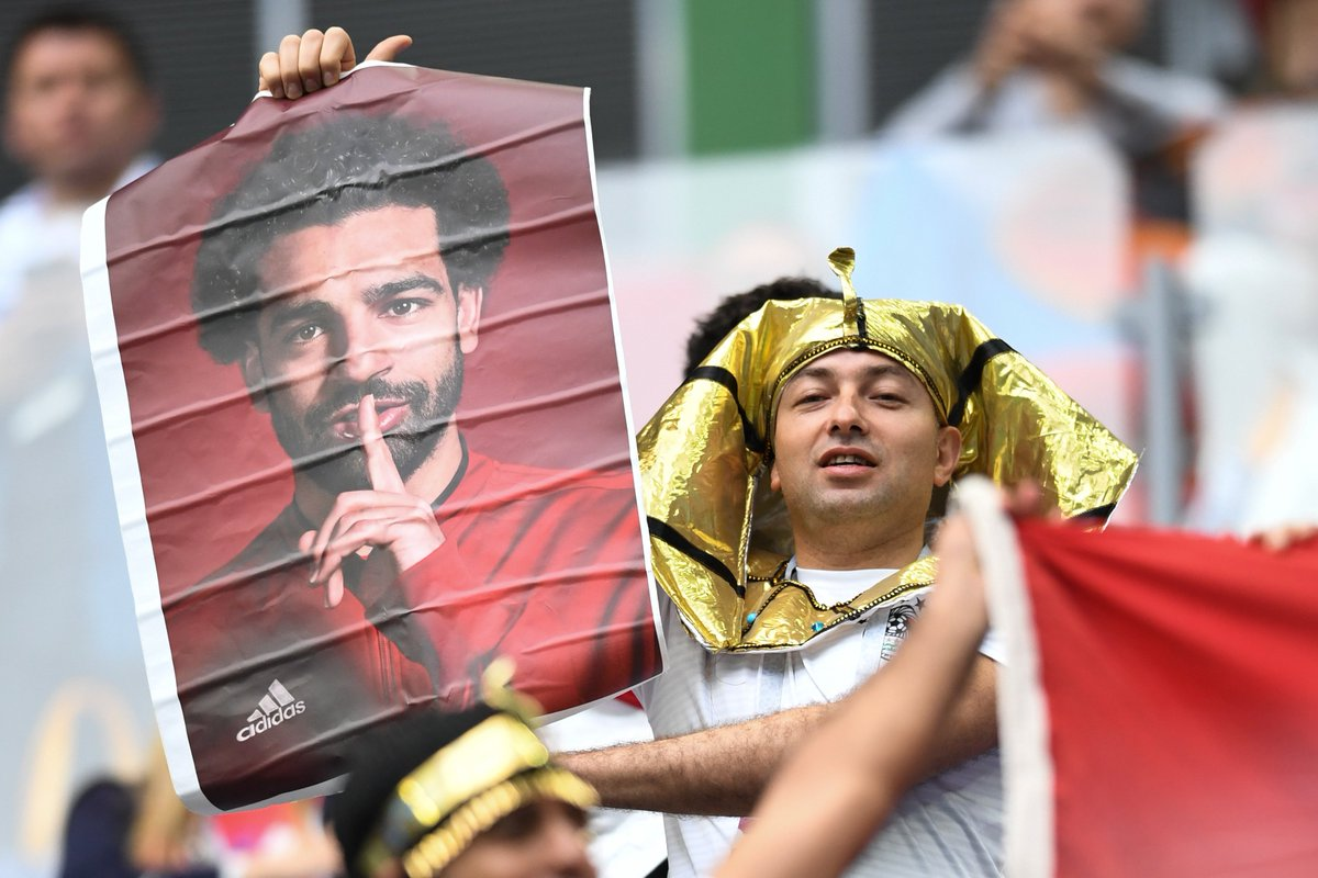 SALAH STARTS FOR #EGY Hell replace Amr Warda in the only change to the side that lost to Uruguay. Denis Cheryshev, who scored two goals after coming off the bench in Moscow, replaces Dzagoev for #RUS Follow #RUS v #EGY right here: bit.ly/2M6HMcL