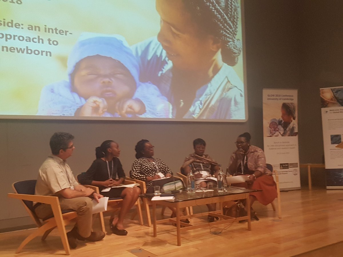 Dr Annette Nakimuli is #African women risk for maternal outcomes - due to race or #racism? Biological risk (eg #preeclampsia rates) as well as social + #healthsystems Panel facilitated by @adweeks