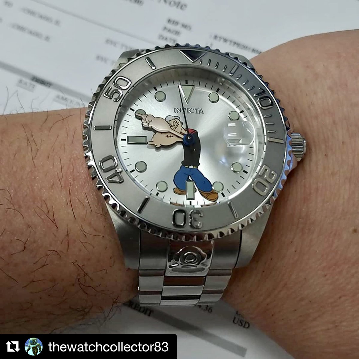 What a great watch ya got there!#Popeye #PopeyeStrong #StrongtotheFinish #PopeyeStyle #watch #fashion #accessories @invictastores