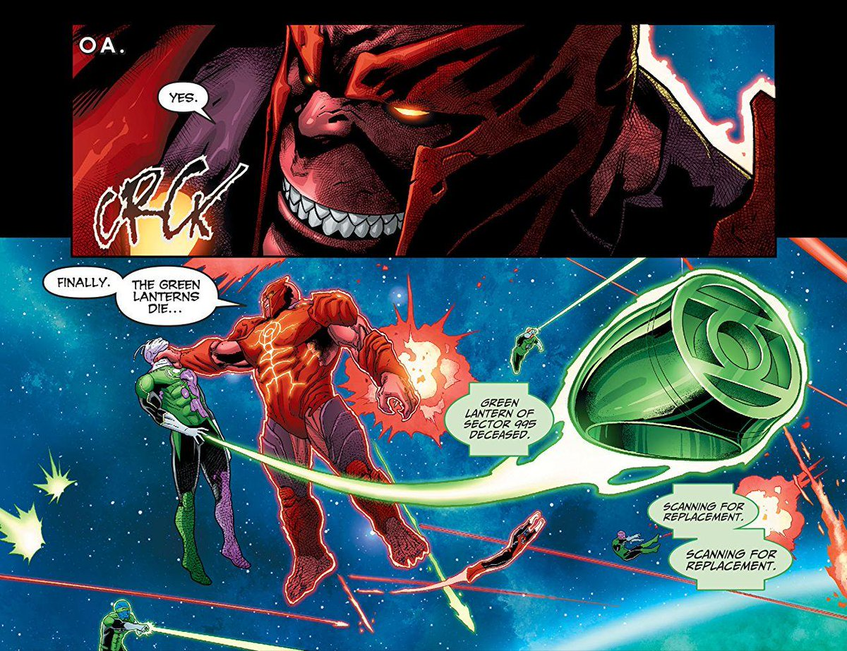 Atrocitus and Dex-Starr better watch out, because Lobo has a Green Lantern ring! The Main Man takes on the Red Lantern Corps in digital-first INJUSTICE 2 #63, available now: bit.ly/2MG8vxJ