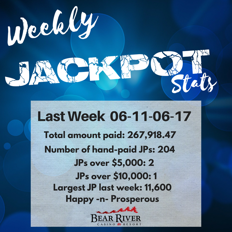 Bear River Casino On Twitter Weekly Jackpots Be A Winner At Bear