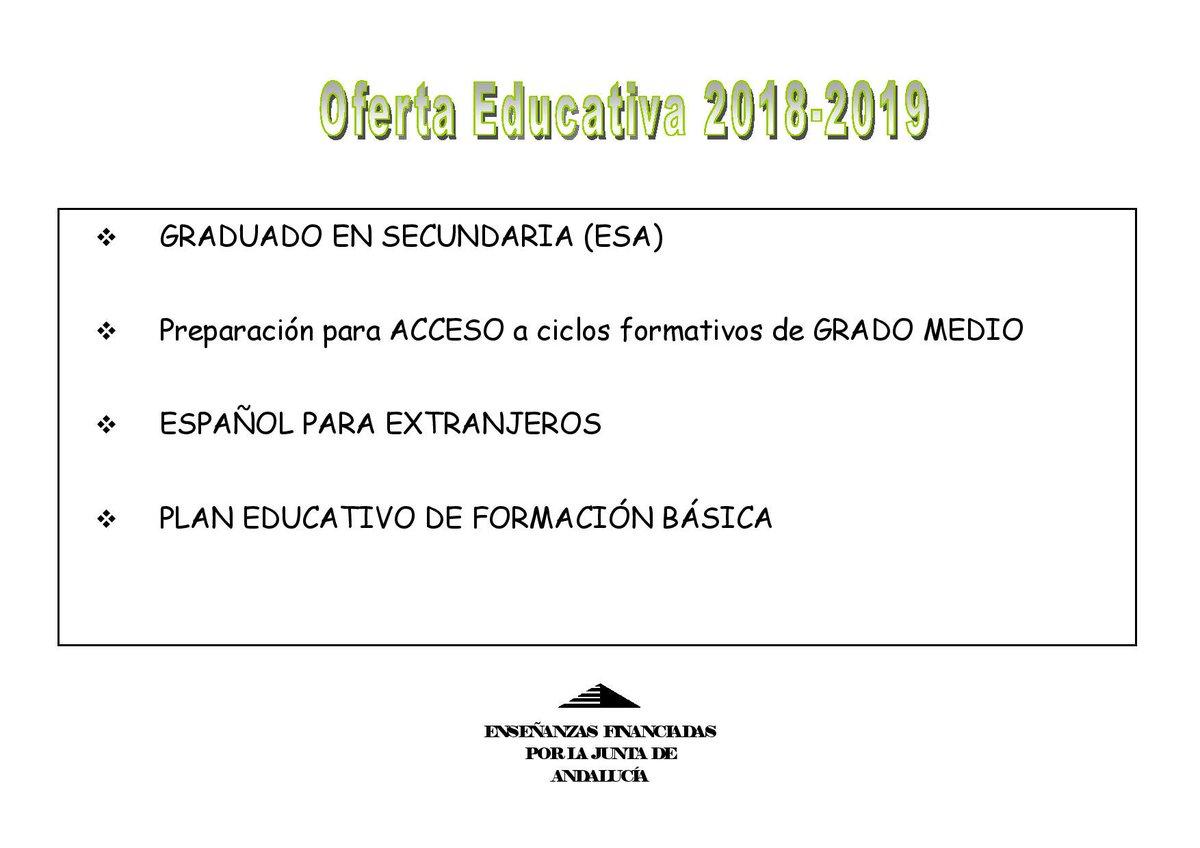 Ayuntamiento Istán On Twitter Oferta Educativa Sep La