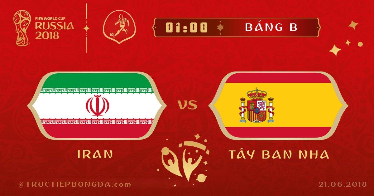 Iran vs Tây Ban Nha